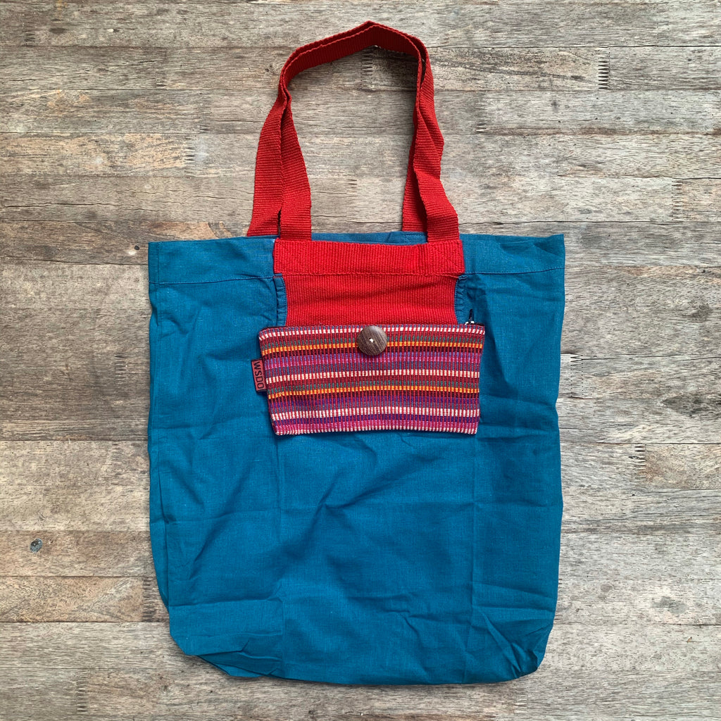 Foldaway Cotton Shopping Bag - WSDO