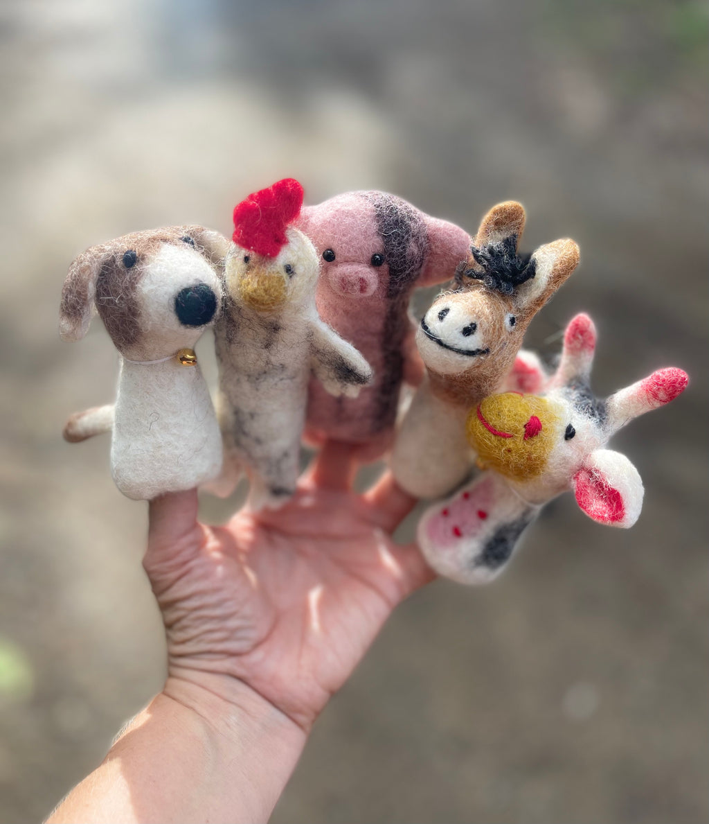Felt Finger Puppets - Farmyard Friends