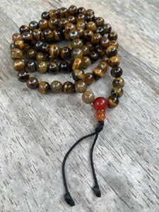 108 Bead Mala ~ Tigers Eye ~ Plain