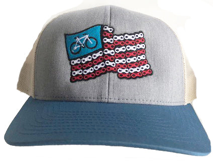 Chain flag hat