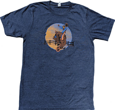 Bison Rider men's blue heather