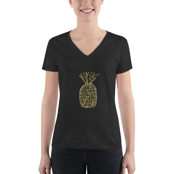 Pineapple v-neck