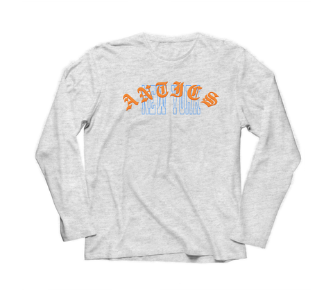 """Times"" Longsleeve - Heather Grey"