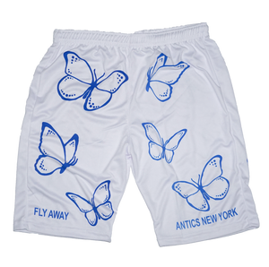 Fly Away Basketball Shorts - White