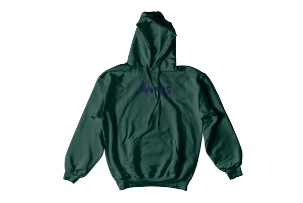 Electric Embroidered Hoodie - Forest Green