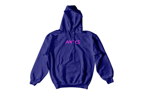 Electric Embroidered Hoodie - Navy
