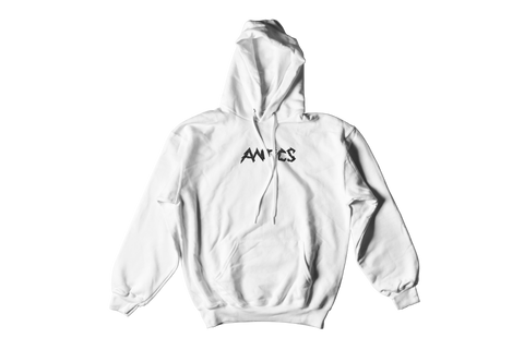 Electric Embroidered Hoodie - White