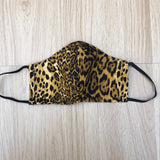 Leopard print face mask & headband set