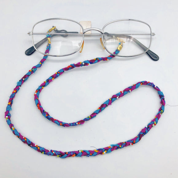 Sari Beaded Eyeglass Chain Global Village Gifts