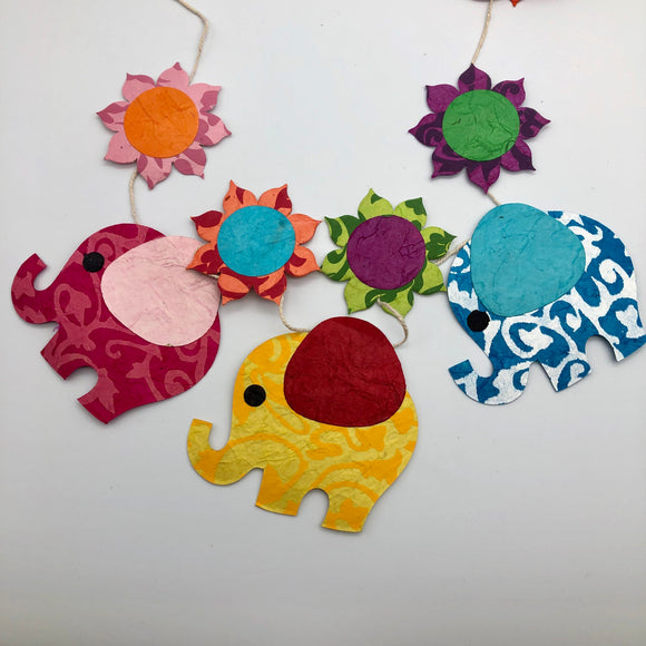 Elephant Nature Garland Global Village Gifts