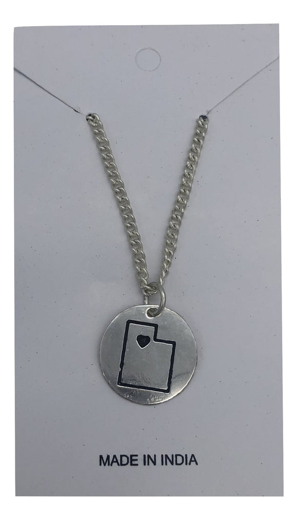 Silver Utah Necklace Global Village Gifts