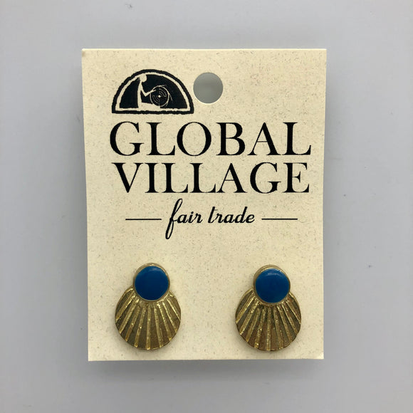 Scalloped Studs Global Village Gifts