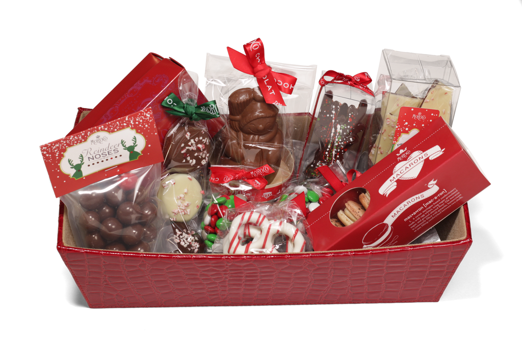 Holiday Baskets Available. We can customize for any size or budget! Call us today to place your order.