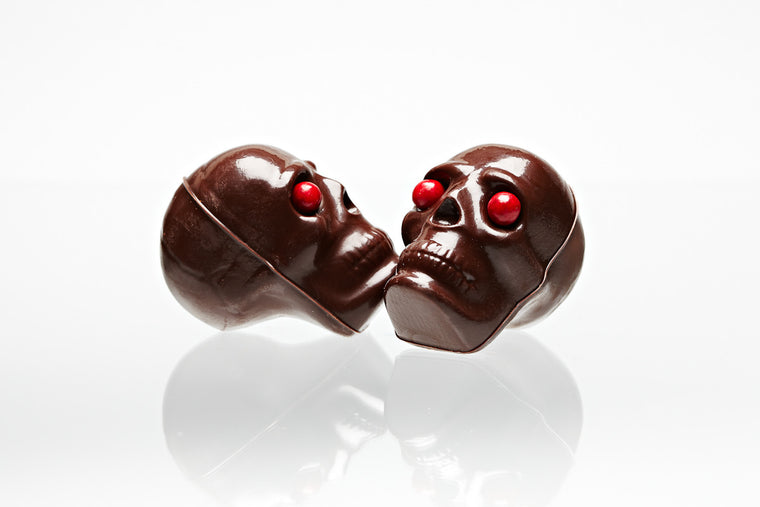 3D Hollow Chocolate Skull 3