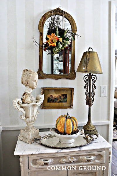 Fall Vignette on the Washstand