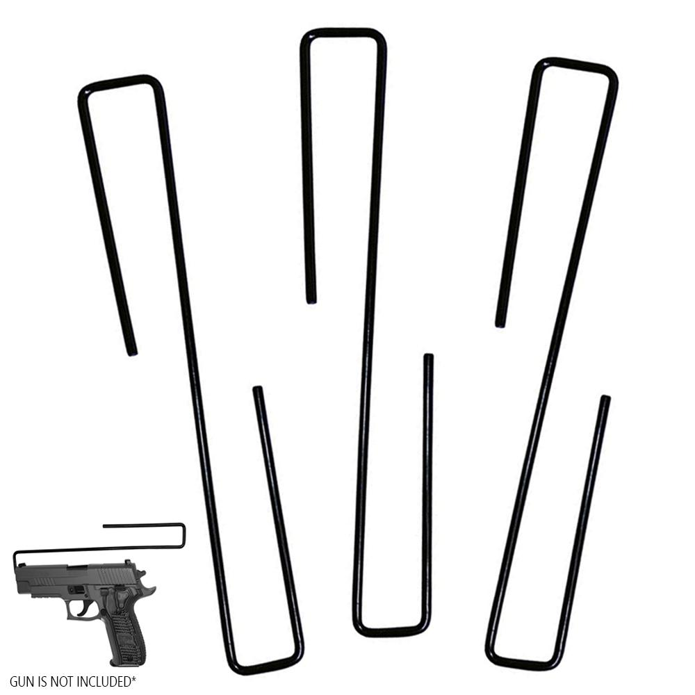 3 Pc Gun Hanger Pistol Handgun Holder Safety Rack Hook Storage Cabinet Organizer