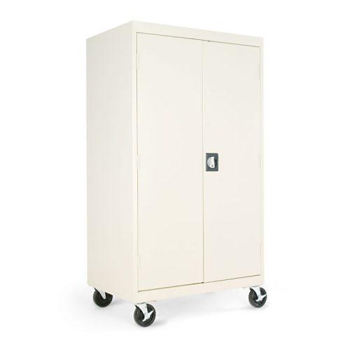 Alera® Mobile Storage Cabinet, w/Adjustable Shelves 36w x 24d x 66h, Putty