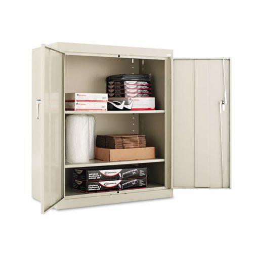 Alera® Assembled 42″ High Storage Cabinet, w/Adjustable Shelves, 36w x 18d, Putty
