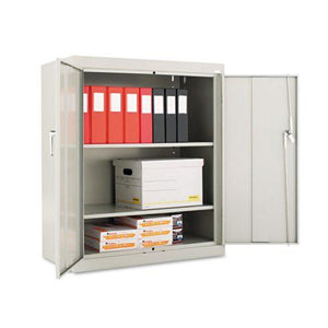 Alera® Assembled 42″ High Storage Cabinet, w/Adjustable Shelves, 36w x 18d, Light Gray