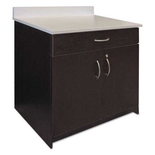 Alera Plus™ Hospitality Base Cabinet, Two Doors/Drawer, 36w x 24 3/4d x 40h, Espresso/White