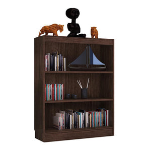 "Alpha Bookshelf & Storage Cabinet with 4 shelf, 42"" high-Classic Wenge"