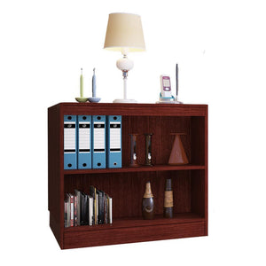 "Alpha Bookshelf & Storage Cabinet with 3 shelf, 30"" high- Mahogany"