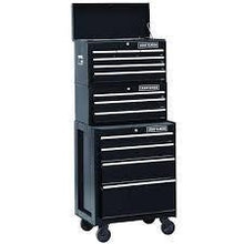Load image into Gallery viewer, Organize with 26 in 13 drawer heavy duty ball bearing 3 pc combo is perfect for your home garage or small work shop this 3 piece set includes a top chest middle chest and rolling cabinet store small parts hand tools or power tools in these storage boxes gr