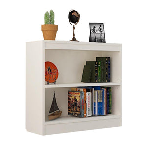 "Alpha Bookcase & Storage Cabinet with 3 shelf, 30"" high- Frosty White"