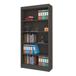 "Alpha Bookshelf & Storage Cabinet with 5 shelf, 67"" high- Slate Grey"