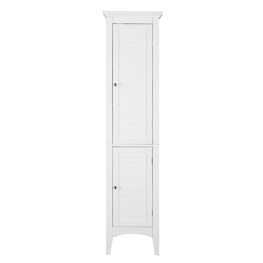 Results elegant home fashions simon 15 in w x 63 in h x 13 1 4 in d bathroom linen storage floor cabinet with 2 shutter doors in white