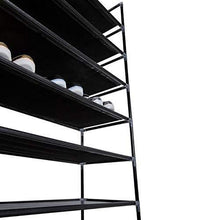 Load image into Gallery viewer, Buy now meevrie 10 tiers shoe racks space saving non woven fabric shoe storage organizer cabinet tower for bedroom entryway hallway and closet black