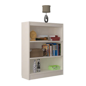 "Alpha Bookshelf & Storage Cabinet with 4 shelf, 42"" high-Frosty White"