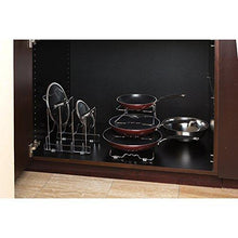 Load image into Gallery viewer, Top rated seville classics 4 tier pan pot lid rack kitchen counter and cabinet organizer 2 pack chrome
