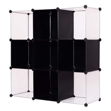 Load image into Gallery viewer, Cheap tangkula cube storage organizer 9 cube bookshelf diy plastic closet cabinet modular bookcase storage shelving for bedroom living room office 43 5l x 14 6 w x 43 5h