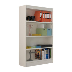 "Alpha Bookshelf & Storage Cabinet with 4 shelf, 54"" high-Frosty White"