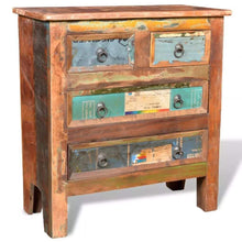Load image into Gallery viewer, The best festnight buffet sideboard with 4 storage drawers reclaimed wood storage cabinet handmade for living room kitchen bedroom home furniture 26 x 12 x 28