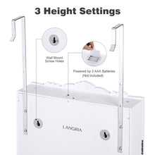 Load image into Gallery viewer, Featured langria 10 leds wall door mounted jewelry cabinet lockable jewelry armoire storage organizer for accessories carved design 2 drawers 3 adjustable heights white