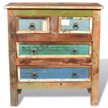 Load image into Gallery viewer, Best festnight buffet sideboard with 4 storage drawers reclaimed wood storage cabinet handmade for living room kitchen bedroom home furniture 26 x 12 x 28