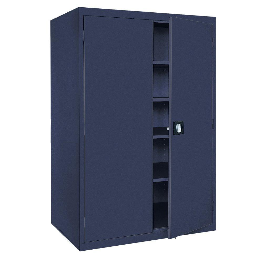 Order now sandusky lee ea4r362478 a6 welded steel elite storage cabinet with adjustable shelves 24 length x 36 width x 78 height navy blue