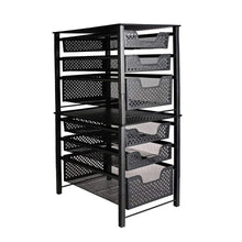 Load image into Gallery viewer, Shop stackable 3 tier organizer baskets with mesh sliding drawers ideal cabinet countertop pantry under the sink and desktop organizer for bathroom kitchen office