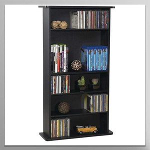 Drawbridge Media Storage Cabinet - Store & Organize A Mix of Media 240Cds, 108DVDs Or 132 Blue-Ray/Video Games, Adjustable Shelves