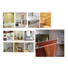 Load image into Gallery viewer, Discover the towel bar fit bathroom and kitchen brushed stainless steel towel hanger over cabinet drawer door 4 pcs