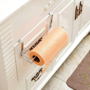 Products paper towel holder aiduy hanging paper towel holder under cabinet paper towel rack hanger over the door kitchen roll holder stainless steel