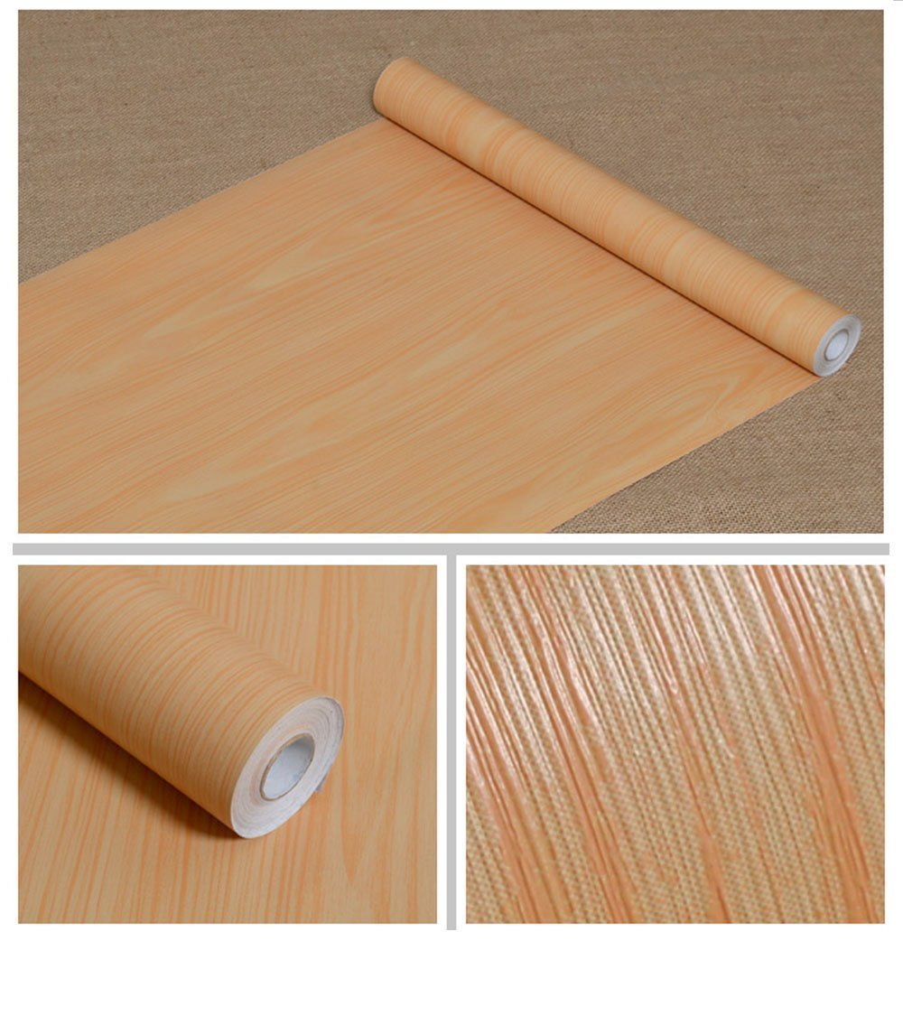 Buy now f u wood grain contact paper self adhesive shelf liner covering for countertop kitchen cabinets wall table door desk yellow 17 7 w x 393 l