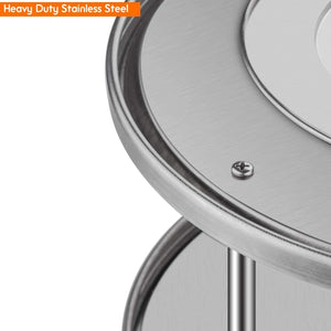 Featured starvast 2 pack 2 tier stainless steel lazy susan turntable 10 inch 360 degree lazy susan spice rack organizer for kitchen cabinet countertop centerpiece