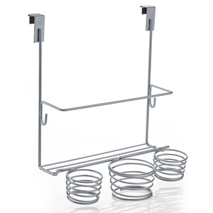 Results home intuition hair styling station organizer over the cabinet door silver