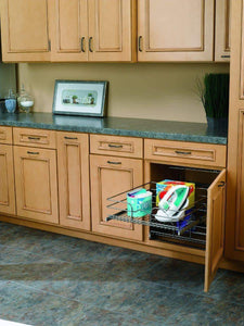 Budget rev a shelf 5wb2 2122 cr 21 in w x 22 in d base cabinet pull out chrome 2 tier wire basket