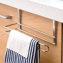 Load image into Gallery viewer, Online shopping paper towel holder aiduy hanging paper towel holder under cabinet paper towel rack hanger over the door kitchen roll holder stainless steel