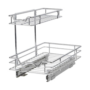 Discover the slide out cabinet organizer 11w x 18d x 14 1 2h requires at least 12 cabinet opening kitchen cabinet pull out two tier roll out sliding shelves storage organizer for extra storage