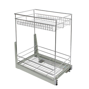 Explore 17 3x11 8x20 7 cabinet pull out chrome wire basket organizer 2 tier cabinet spice rack shelves bowl pan pots holder full pullout set